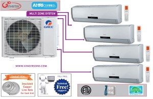Gree Quad Zone MULTI42HP230V1AO NEO12HP230V1AH (FOUR) SEER 16 Ductless System