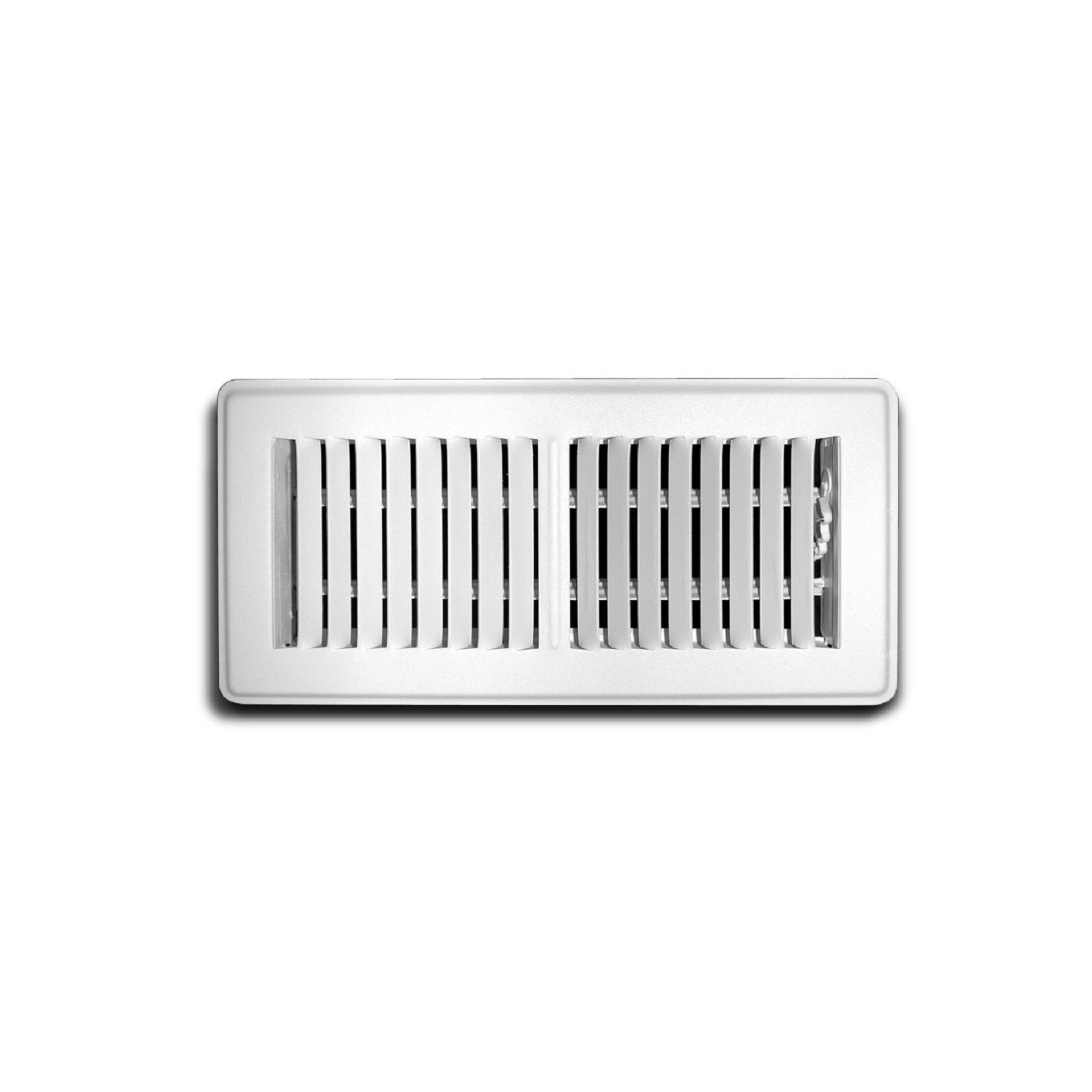 "TRUaire 150MW 04X10 - Steel Stamped Face Floor Diffuser, White, 04"" X 10"""