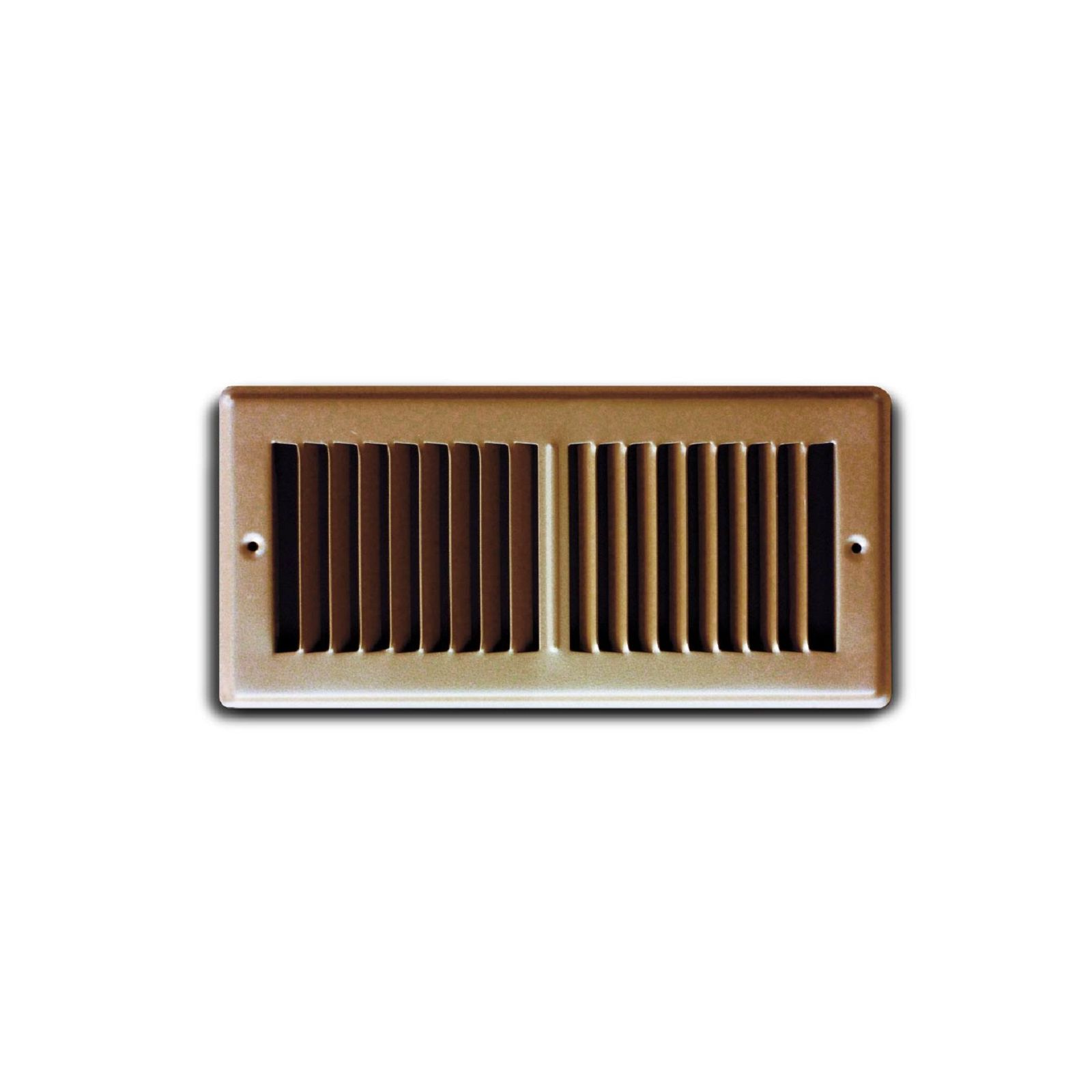 "TRUaire 150TSB 02X10 - Steel Stamped Toe Space Floor Grille, Brown, 02"" X 10"""