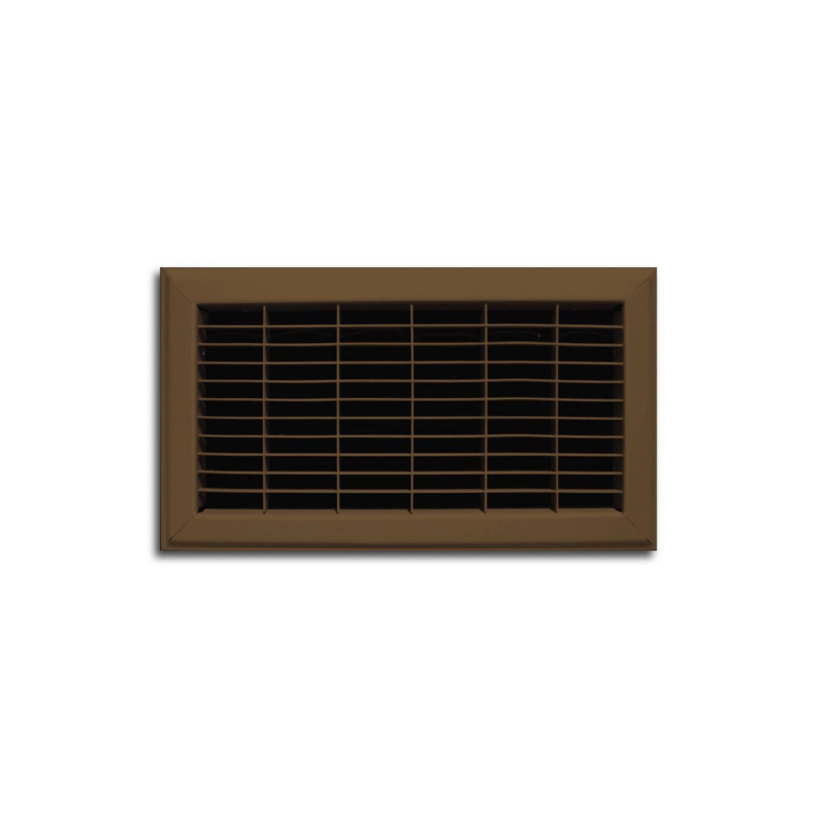 "TRUaire 154R 06X10 - Steel Heavy Gauge Floor Return Air Grille, Brown, 06"" X 10"""
