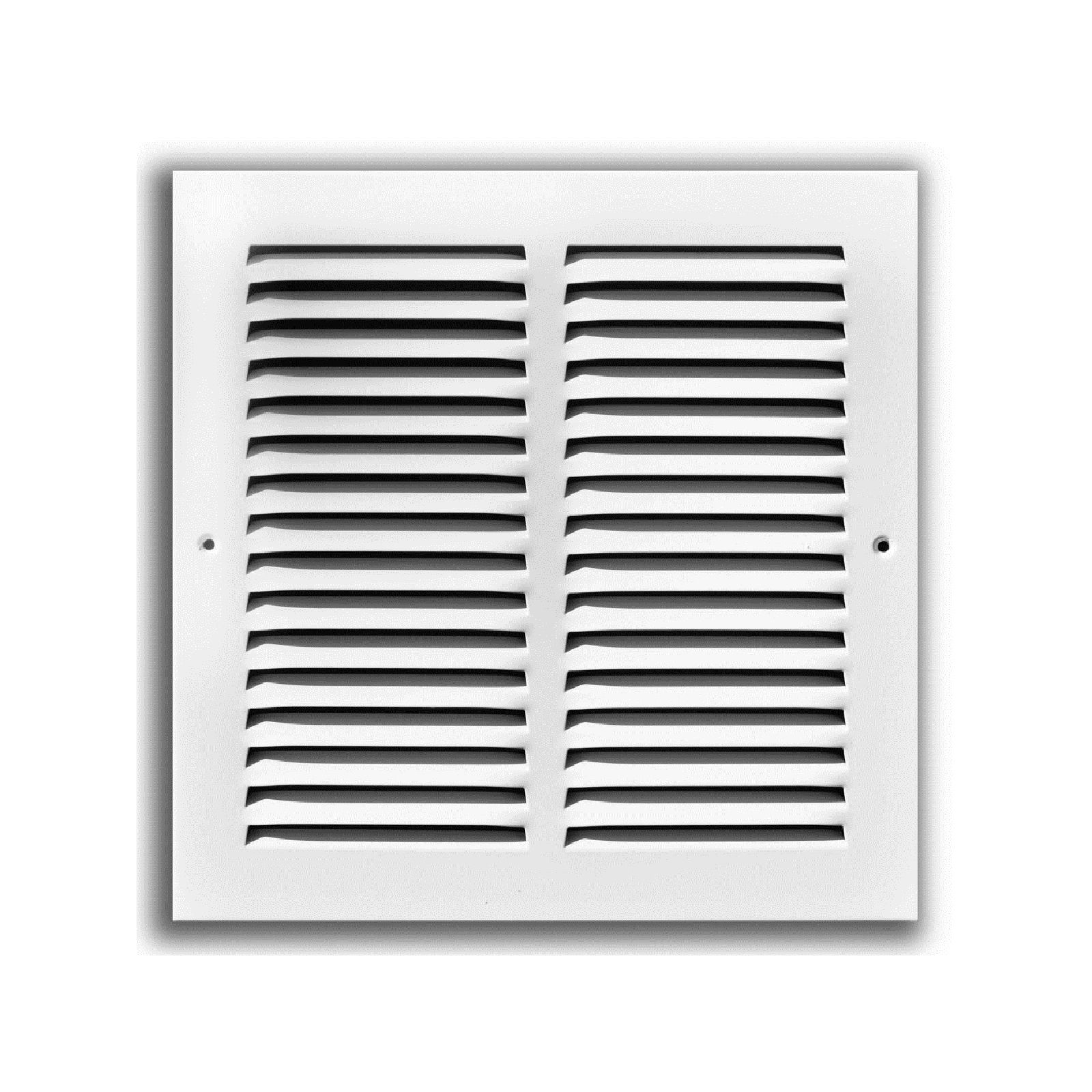 "TRUaire 170 18X18 - Steel Return Air Grille - 1/2"" Spaced Fin, White, 18"" X 18"""