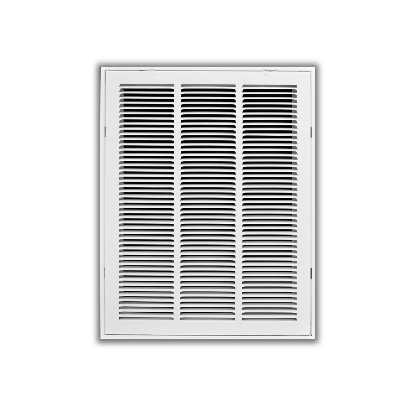 "TRUaire 190 08X08 - Steel Return Air Filter Grille With Fixed Hinged Face, White, 08"" X 08"""