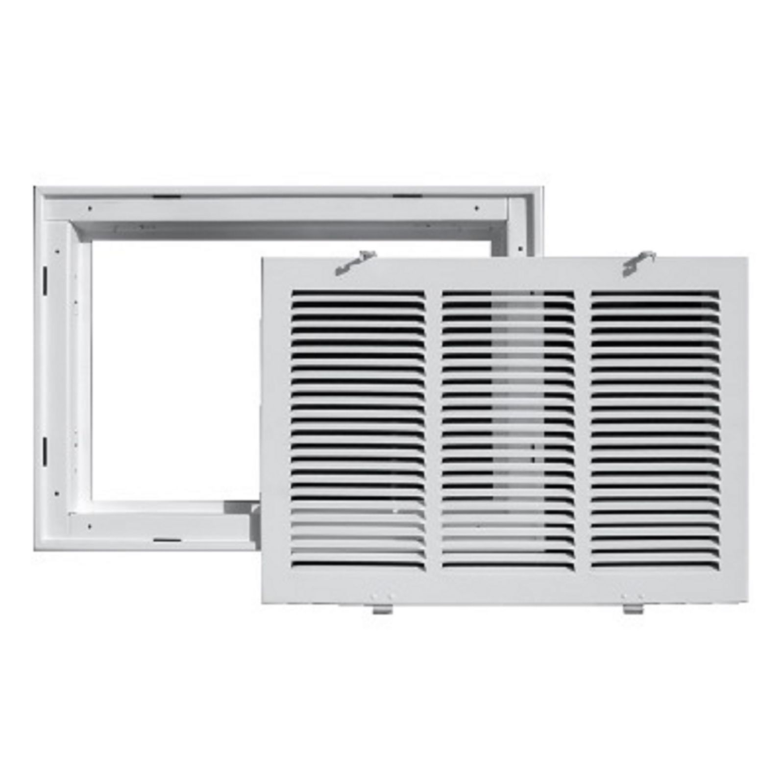 "TRUaire 190RF 12X12 - Steel Return Air Filter Grille With Removable Face, White, 12"" X 12"""