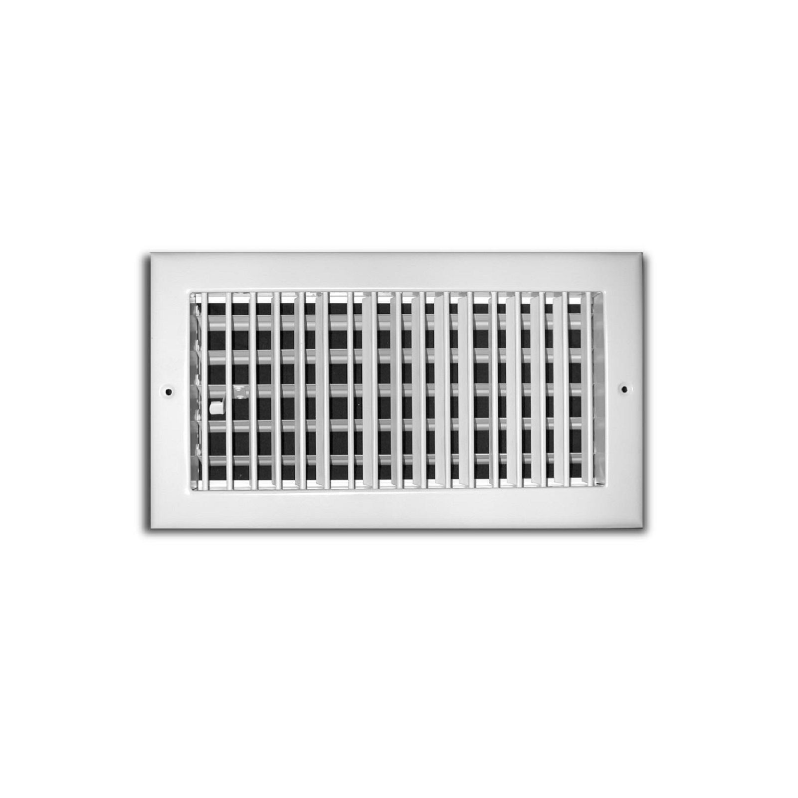 "TRUaire 210VM 06X06 - Steel Adjustable 1-Way Wall/Ceiling Register With Multi Shutter Damper, White, 06"" X 06"""
