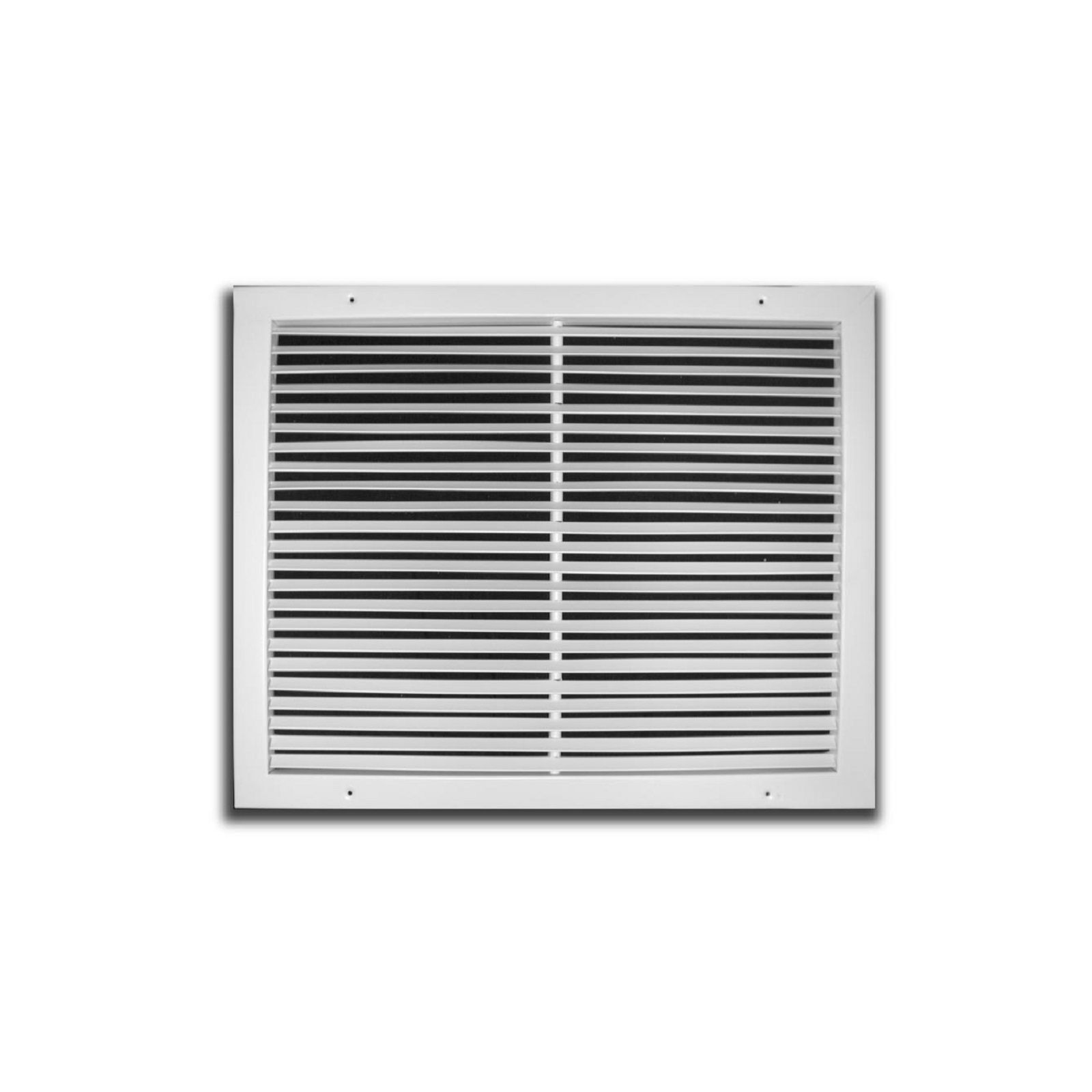"TRUaire 270 08X08 - Steel Fixed Bar Return Air Grille, White, 08"" X 08"""