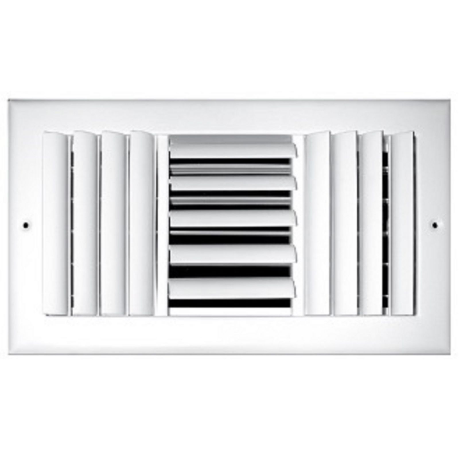 "TRUaire 303M 12X06 - Steel Adjustable Curved Blade Wall/Ceiling Register With Multi Shutter Damper, 3-Way, White, 12"" X 06"""