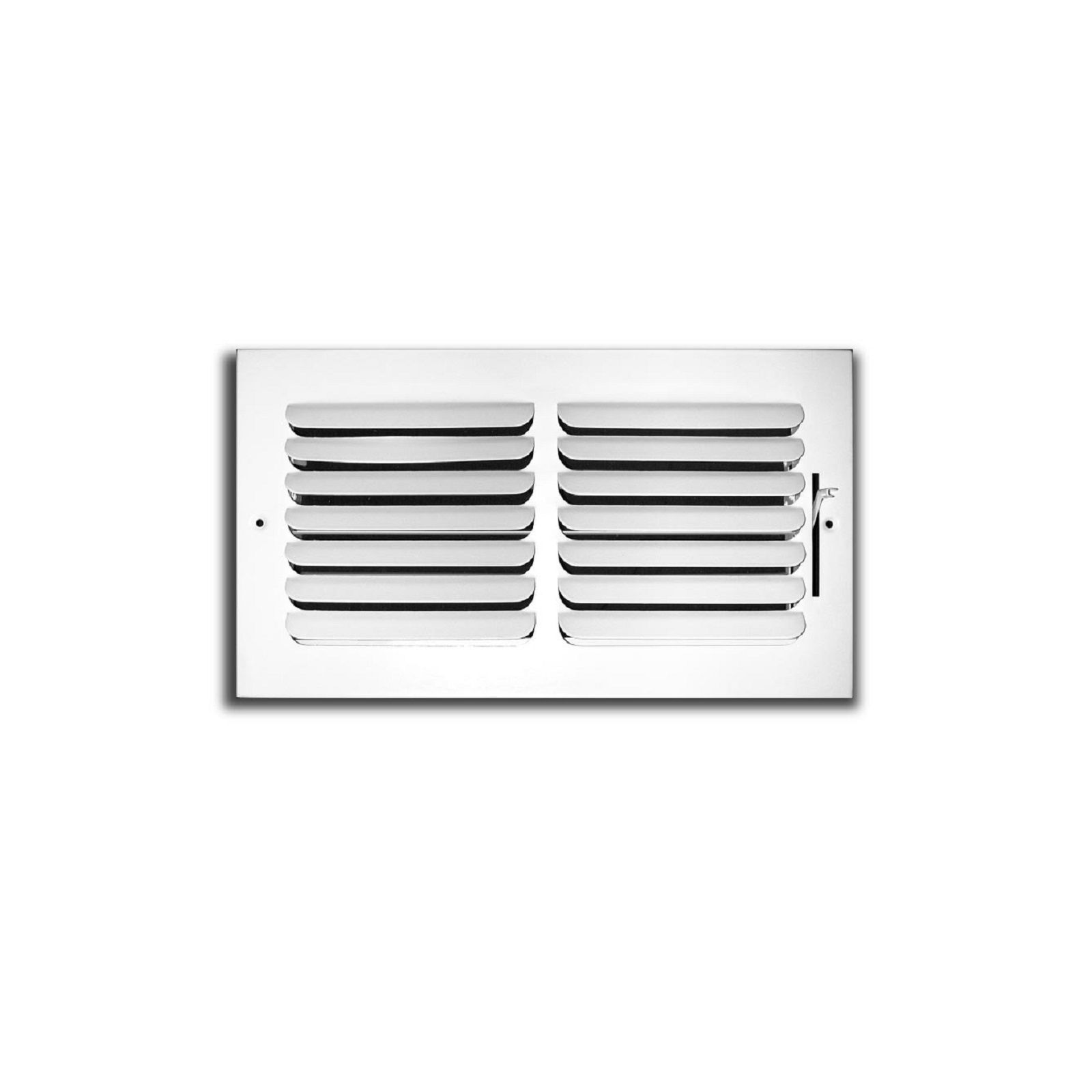 "TRUaire 401M 10X10 - Fixed Curved Blade Wall/Ceiling Register 401M With Multi Shutter Damper, 1-Way, White, 10"" X 10"""