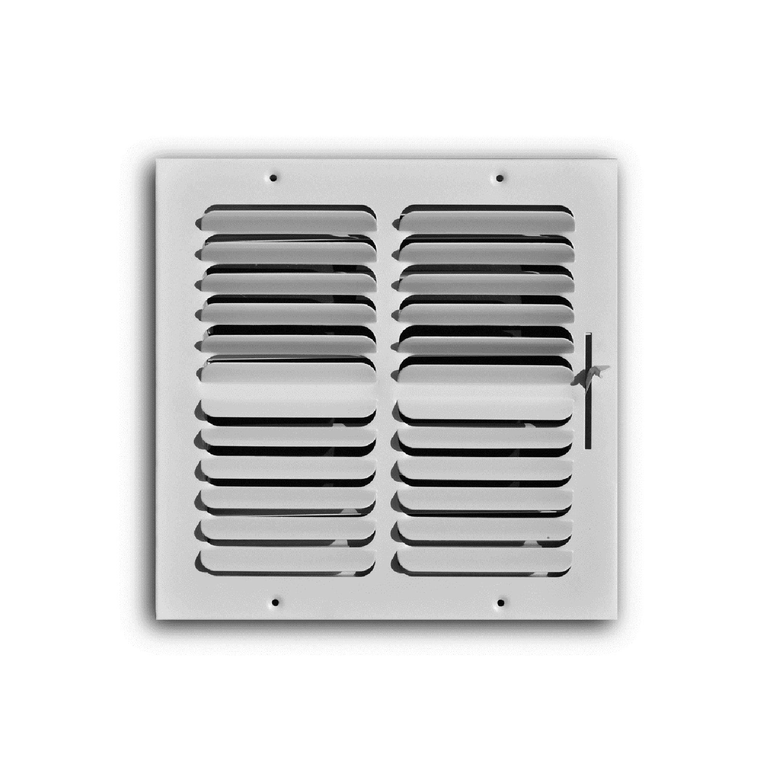 "TRUaire 402M 10X08 - Fixed Curved Blade Wall/Ceiling Register With Multi Shutter Damper, 2-Way, White, 10"" X 08"""