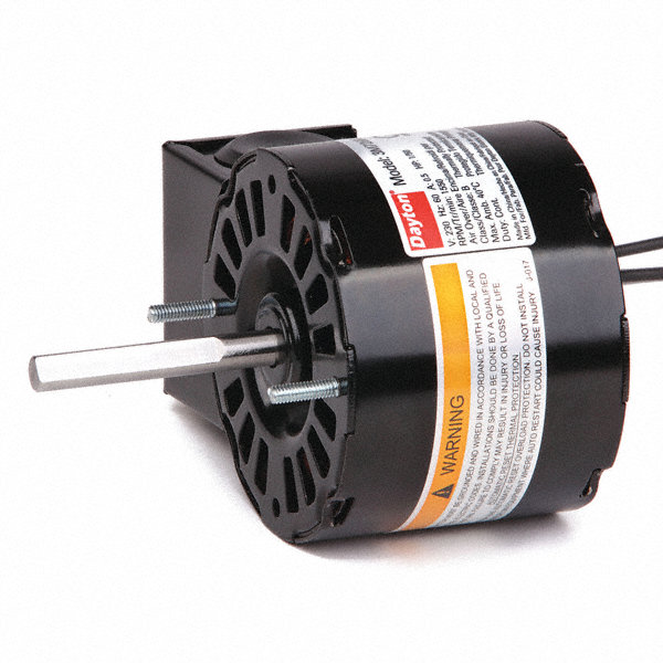 DAYTON 1/50 HP, HVAC Motor, Shaded Pole, 1550 Nameplate RPM, 230 Voltage, Frame 3.3