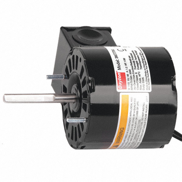 DAYTON 1/30 HP, HVAC Motor, Shaded Pole, 3000 Nameplate RPM, 115 Voltage, Frame 3.3