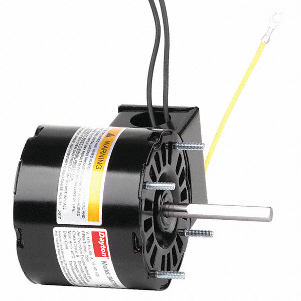 DAYTON 1/20 HP, HVAC Motor, Shaded Pole, 1550 Nameplate RPM, 115 Voltage, Frame 3.3