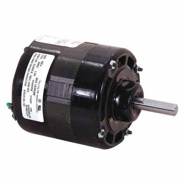 CENTURY 1/15 HP Direct Drive Blower Motor, Permanent Split Capacitor, 1060 Nameplate RPM, 115 Voltage