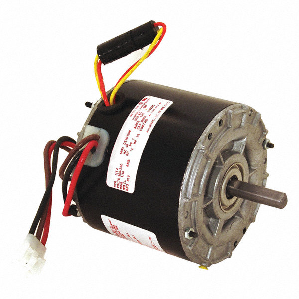 CENTURY 1/6 HP Direct Drive Motor, Permanent Split Capacitor, 1110 Nameplate RPM, 208-230 VoltageFrame 42