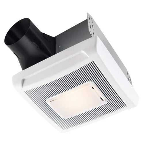 NuTone AN80L InVent Series 80 CFM 1 Sone Ceiling Mounted HVI Certified Bath Fan with Light