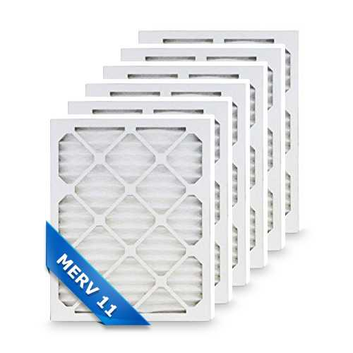 Replacement Pleated Air Filter for 20x25x4 Merv 11 (6-Pack)