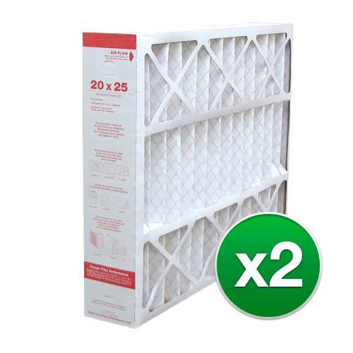 Replacement Pleated Air Filter for For Honeywell CF200A1016 HVAC 20x25x5 MERV 11 (2 Pack)