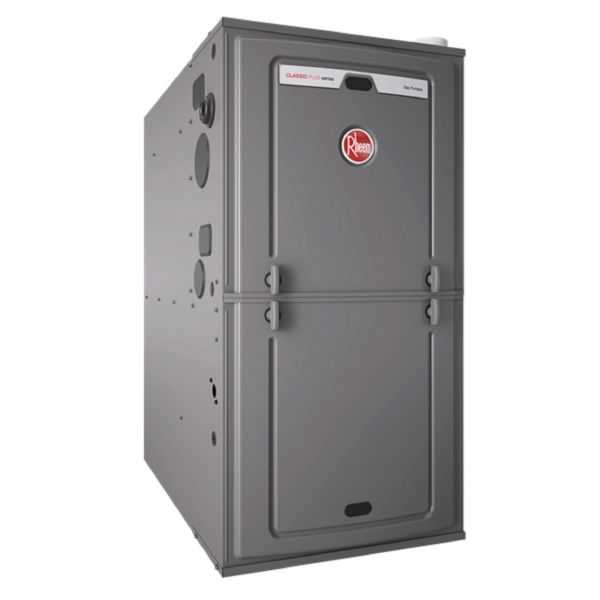 Rheem - R96PA0702317MSA - Classic Plus Series 96% AFUE, 70K BTU, 2 Stage, Multi-Position Gas Furnace With PSC Motor