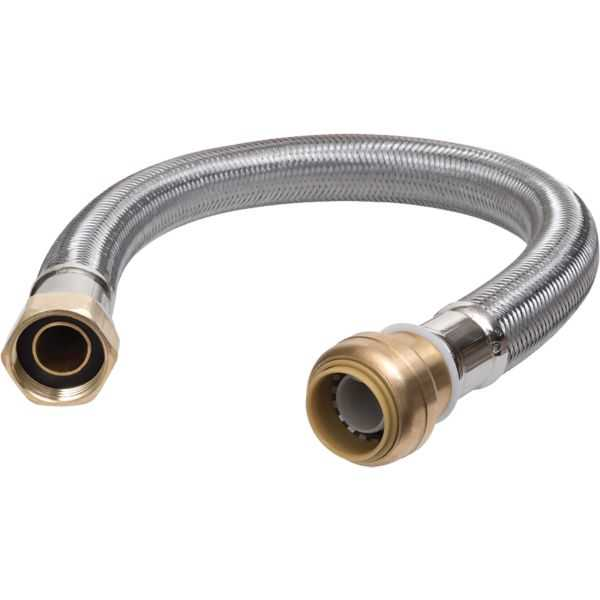 SharkBite U3088FLEX24LF - Flex Water Heater Connector 3/4' X 3/4' FIP X 24' Lead Free