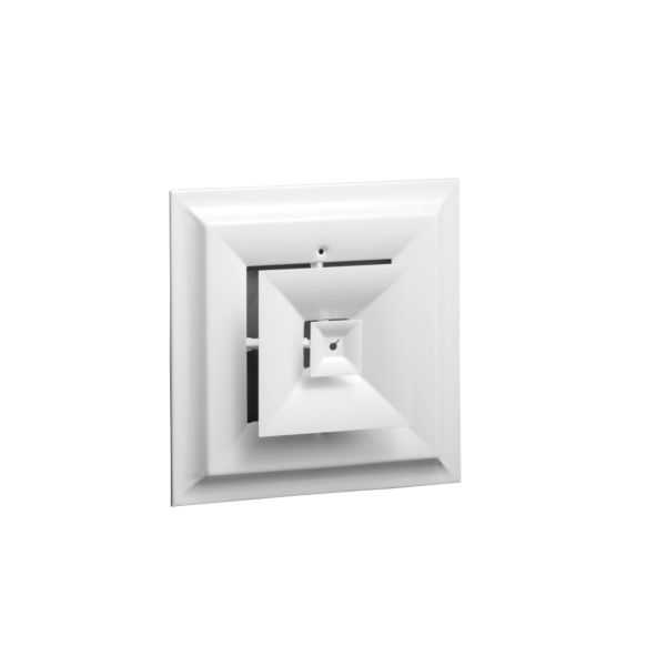 Hart & Cooley 012951 - Steel, Step Down, Square Diffuser, White Finish, 8'