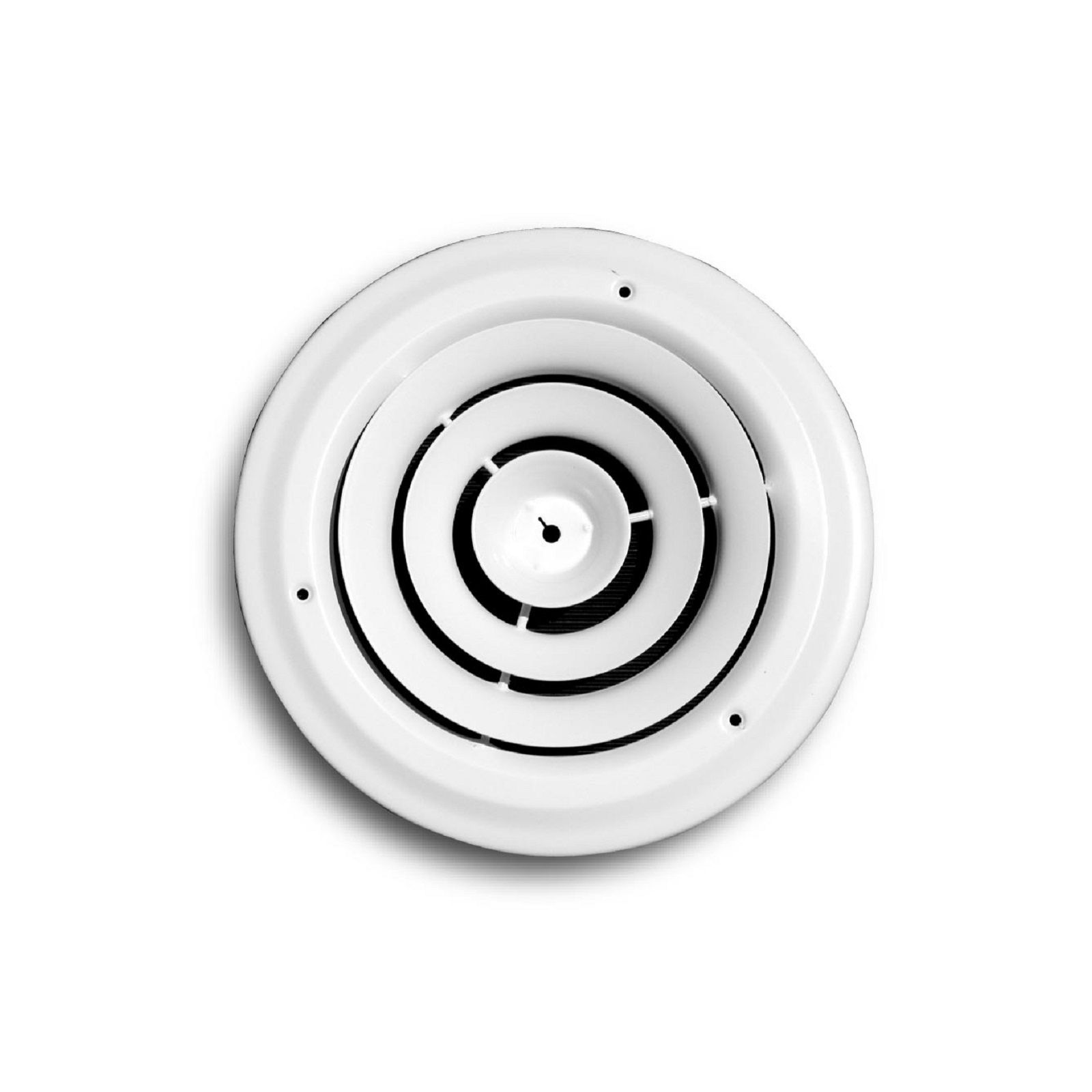 TRUaire 800-06 - Steel Round Ceiling Diffuser, White, 6""